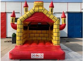 Hüpfburg Camelot rot-gelb