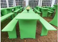 Stretchhussen in grün