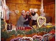 Süßwarenstand Weihnachtsmarkt