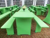 Festzeltgarnitur Husse grün mieten berlin