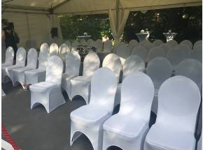 Chair cover for our padded banquet chairs